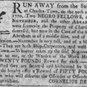 November - SHICAR5 - SC Gazette - October 25 1770.png