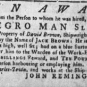 Jack Brown - SHICAR7 - SC Gazette - February 4 1773.png
