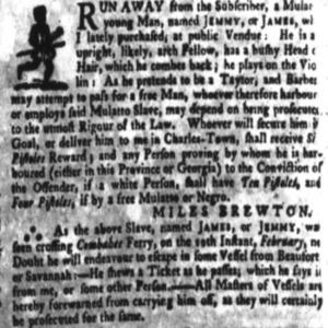 Jemmy - TAI5 - SC Gazette - April 11 1771.png