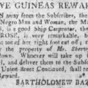 Moses - SHICAR13 - Royal SC Gazette - September 10 1782.png