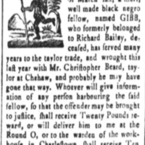 Gibb - TAI2 - SC Gazette - April 13 1767.png