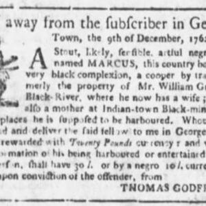 Marcus - COO31 - SC Gazette - 5-14-1763 p2.JPG