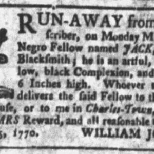 Jack - BLA6 - SC Gazette and Country Journal - 11-6-1770 p5.JPG