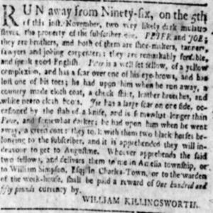Peter - SHOE11 - SC Gazette - November 20 1762.png
