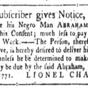 Abraham - BRIL 11 - SC Gazette 2-7-1771 p1.JPG